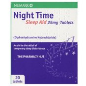 Diphenhydramine hydrochloride 25 mg Night Time Sleep Aid Tablets